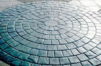 Щампован бетон - имитация на паважна настилка